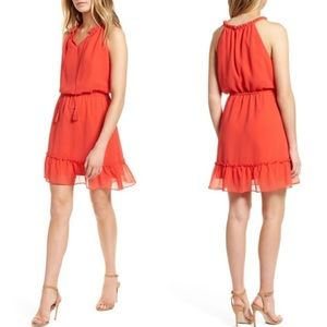 NWT Cupcakes & Cashmere Damien Poppy Red Dress L